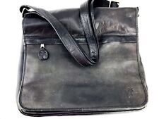 Frye Messenger Bag Leather Laptop Carry On Briefcase Backpack Weathered Satchel