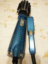 """BaByliss Pro Nano Titanium 1"""" Mini Travel Flat Iron BaBylissPRO Blue Purse size"""