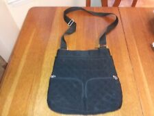 AUTHENTIC VERA BRADLEY HIPSTER CROSSBODY/PURSE BLACK QUILTING AWESOME CONDITION!