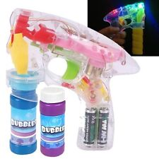 48 PACK Flashing Bubble Gun with Lights Bubbles Blaster Blower Party Favors CASE
