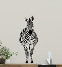 Zebra Wall Decal Wild Animal Nursery Vinyl Sticker Africa Decor Art Mural 46hor