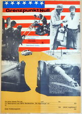Barry Newman VANISHING POINT original half sheet East German movie poster1975