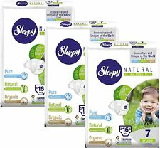 Sleepy Natural Diapers 48 Count - Size 7 Diapers, Child Weight 44-66 lbs