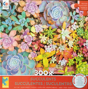 Ceaco 300 Piece Jigsaw Puzzle - Succulents - New Sealed