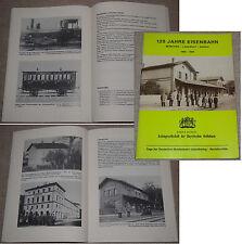 Festschrift 125 Jahre EISENBAHN München - Landshut - Donau / Dt. Bundesbahn 1984