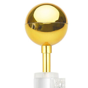"""3"""" Flagpole Gold Weatherproof Ball Top Finial Ornament for 20' 25' 30' Flag Pole"""