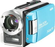 Sanyo VPC-WH1 High Def Waterproof Flash Memory Camcorder w/30x Optical Zoom BLUE