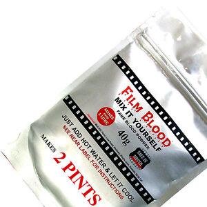 Fake Blood, Makes over 2 Pints, DIY Powder, Stage Film by FILMBLOOD Mouth Safe