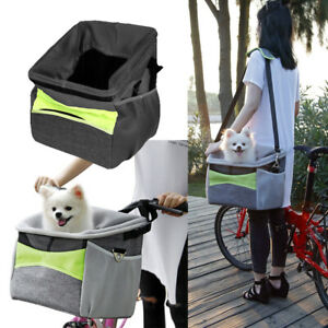 Portable Pet Bag Bike Basket Front Handlebar Dog Carrier Cat Travel Shoulder Bag
