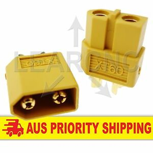 Three Pair XT60 XT-60 Male / Female Connector Plugs for RC LiPo Battery Deans