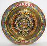 Inca Calender brass and enamel wall hanging plaque from Cancun Mexico