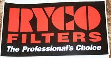 Retro Sticker RYCO Filters The Professional S Choice