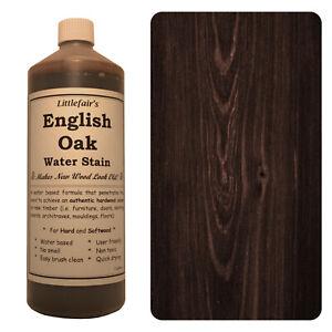 Littlefair's Water Based Environmentally Friendly Wood Stain / Dye - English Oak