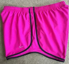 Nike Dri-Fit Tempo Running Shorts - Women's Plus 1X / 1 X (hot pink/black) NWT