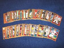 2012 BOWMAN BASEBALL 76 DIFFERENT GOLD PARALLEL CARDS (617-7)