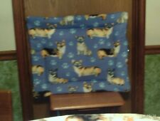New Pembroke Welsh Corgi Crate Pad Or Bed Fleece Corgi W/ Sunglasses Motif Top