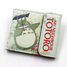 Anime My Neighbor Totoro Leather Wallet Cosplay totoro Purse Two-Fold Purse VGDF