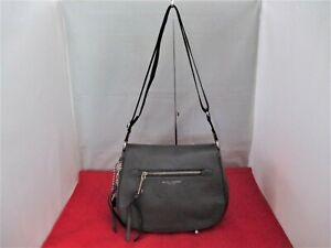 MARC JACOBS Pebbled Leather Saddle Bag, Shoulder Bag, Crossbody,Hobo  $375 Grey