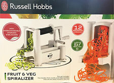 Russell Hobbs Tri Blade Spiral Chopper Peeler Vegetable Fruit Slicer Spiralizer