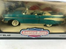 1/18 ERTL AMERICAN MUSCLE 1957 CHEVROLET BEL AIR CONVERTIBLE 40TH ANNIVERSARY