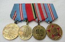 Udssr Rusia Ordensspange Mit 4 Premios, Medallas Am Banda