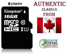 GENUINE Kingston 16GB Micro sd card TF Flash Memory MicroSd SDHC Class 10 REAL