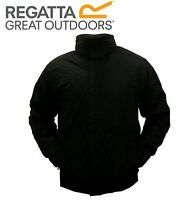 RRP £48!!  MENS REGATTA FLEECE LINED BLACK WATERPROOF JACKET M-XXXL RD