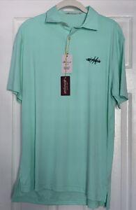 NWT Peter Millar Mens Morningside Golf Club Featherweight Polo Shirt - Green - S