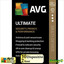 AVG ULTIMATE 2021 2 anni | PC, Mac, Android | TuneUp, Internet Security, VPN IT