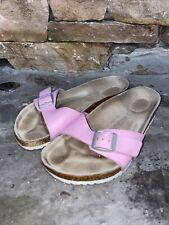 Birkenstock Size 37 - Pink Madrid Eva Suede Slide Sandal