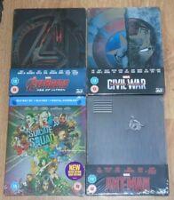 Super Heroes bundle 3D (4 blu-rays) Steelbook. NEW & SEALED (Zavvi UK). Marvel.