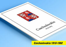 COLOR PRINTED CZECHOSLOVAKIA 1918-1992 STAMP ALBUM PAGES (379 illustrated pages)