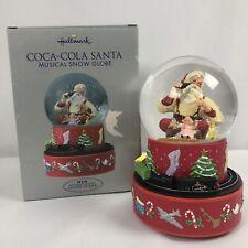 Hallmark Coca Cola Santa Musical Snow Globe Moving Train 2001