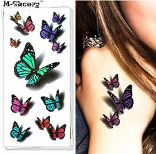3D Temporary Butterfly Tattoo Sticker Body Art Removable Waterproof Tattoos