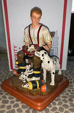 """Vanmark Red Hats of Courage Collectible Figurine    """"A Welcome Home"""" Dalmatians"""