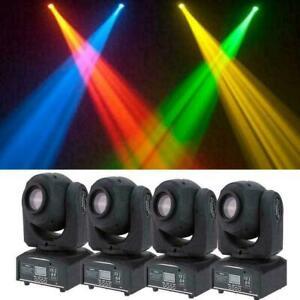 4PCS 60W RGBW SPOT Gobo LED Stage Lights Moving Head DMX Disco DJ Party Lighting
