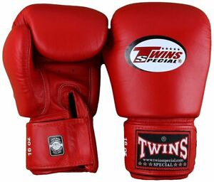 Twins Special Muay MMA K1 Boxing Gloves BGVL3 Red Training Sparring 8 - 16