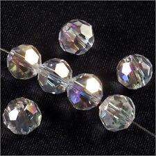 Lot de 20 perles à FACETTES 8mm en Cristal de Bohème Cristal AB