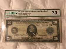FR-979a  1914 Series $20 Cleveland Federal Reserve Note *PMG 25 Very Fine*