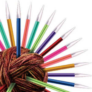KnitPro Zing Metal Straight Knitting Needles Sizes 3.0mm - 6mm (25cm)