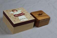 2 Holzdeckeldosen - Deckel Dosen aus Holz - Schatullen - ältere + neuere  /S194