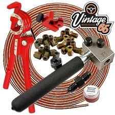"""Morris Minor Oxford Marina DIY 3/8"""" Unf Pro Copper Brake Line Pipe Repair Kit"""