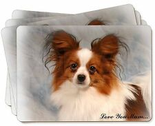 Papillon Dog 'Love You Mum' Picture Placemats in Gift Box, AD-PA1lymP