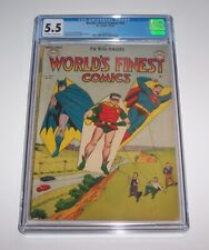 World's Finest Comics #46 - DC Golden Age 1950 Issue - CGC FN- 5.5
