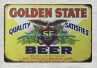 unique home decor Golden State Beer San Francisco Brewing Corp metal tin sign