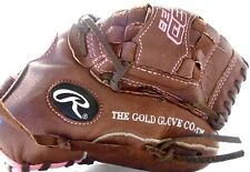 "Rawlings Fastpitch Glove FP110 11"" Leather Shell Softball Pink LF Hand Pre-Owned"
