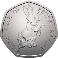 2017 50P COIN TALE PETER RABBIT UNCIRCULATED RARE FIFTY PENCE BEATRIX POTTER !