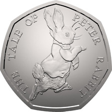 2017 50P COIN TALE PETER RABBIT UNCIRCULATED RARE FIFTY PENCE BEATRIX POTTER ^