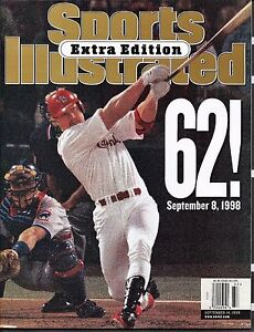 1998 MARK McGWIRE Maris-Sports Illustrated Special Edition NEWS STAND NO LABEL