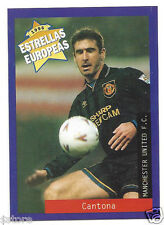 Rare '96 Panini France's EUROPEAN SUPER STAR Eric Cantona with Manchester UNTD.